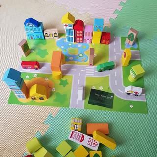 [FREE SHIP ĐƠN TỪ 50K] Hộp 62 khối xây dựng mô hình thành phố