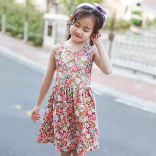Váy hoa bé gái