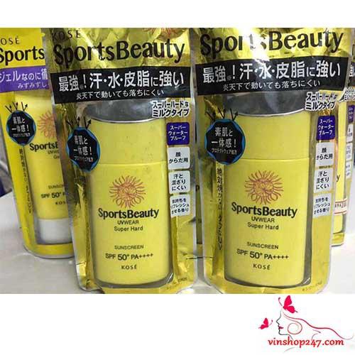 Kem chống nắng Kose Sports Beauty UVWear Super Hard SPF50+ - 9924262 , 535162753 , 322_535162753 , 250000 , Kem-chong-nang-Kose-Sports-Beauty-UVWear-Super-Hard-SPF50-322_535162753 , shopee.vn , Kem chống nắng Kose Sports Beauty UVWear Super Hard SPF50+