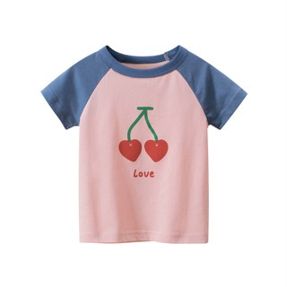 Áo thun bé gái 27Home in hình siêu dễ thương chất liệu 100% cotton an toàn cho bé hàng chuẩn xuất Âu Mỹ