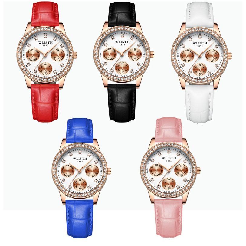 Đồng hồ nữ  wlisth cao cấp phong cách Hàn Quốc E