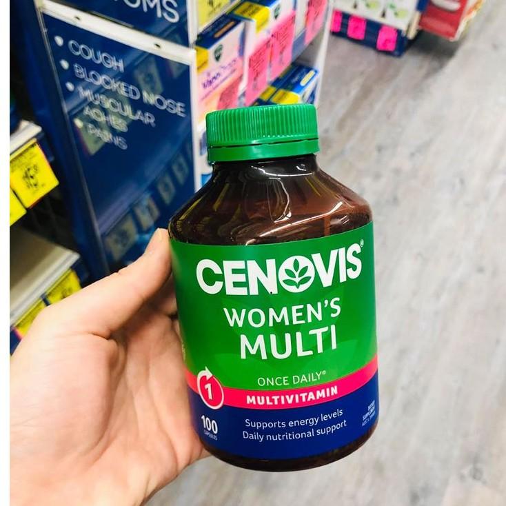 Cenovis Women's Multi Vitamins & Minerals Once Daily 100 viên Vitamin tổng hợp cho phụ nữ