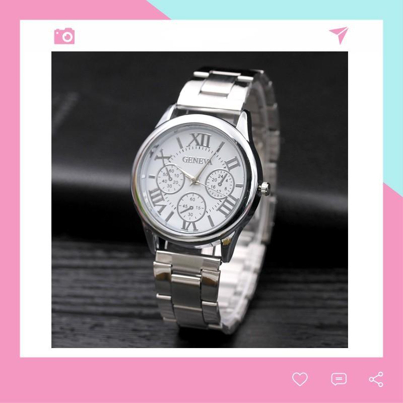 Đồng hồ nữ thời trang Geneva lịch lãm dây kim loại DH99
