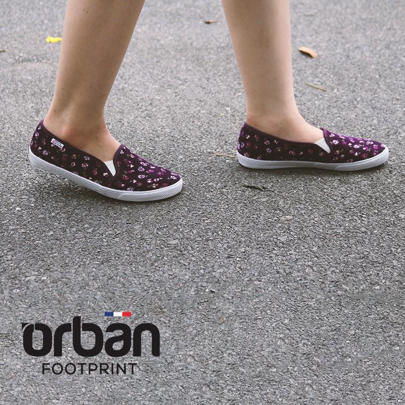 Giày slipon nữ thời trang D&A L1727 tím