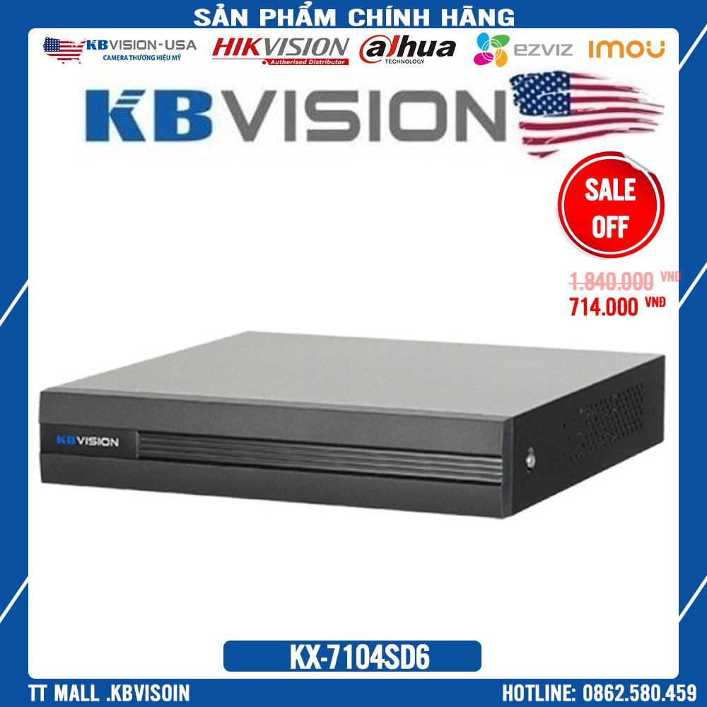 {Giá HỦY DIỆT} ĐẦU GHI 4 kênh 5 in 1  KBVISION KX-7104SD6 - Chính Hãng 100%- Bảo hành 2 năm
