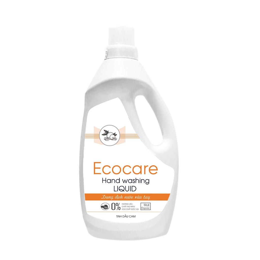 [Hương cam - can 1L] Nước rửa tay hữu cơ bồ hòn dạng bọt (Ecocare)