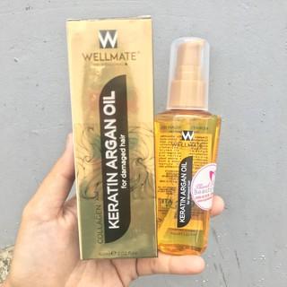 Best Seller Tinh Dầu Phục Hồi Tóc Wellmate Keratin Argan Oil 60ml (Vàng) thumbnail