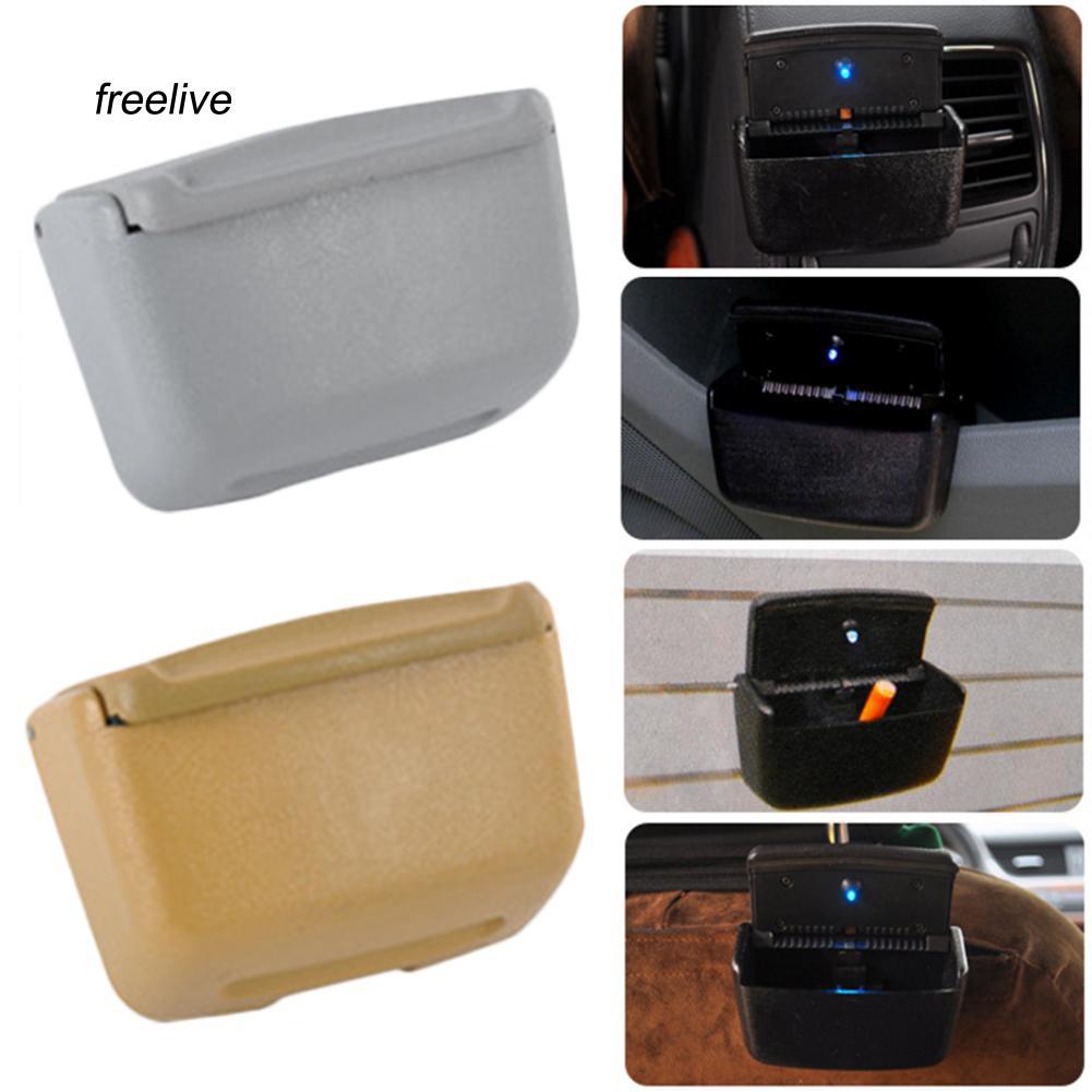 FLE_Universal Home Auto Car Air Outlet Ashtray Multiuse LED Cigarette Smoke Remover