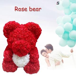 Gấu Bông Hồng Đỏ 25cm Đáng Yêu Làm Quà Tặng Valentine