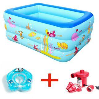 Combo bể bơi 3 tầng 1m3 + phao đỡ cổ + bơm điện