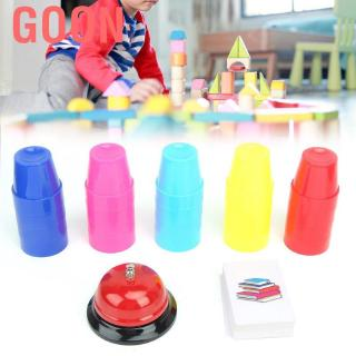 Goon Fast matching stackable cups Game for children stackers Stackable cup with bell challenge Inte