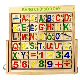 Đồ chơi bằng gỗ. Bảng Tiếng Việt, Chữ Số gỗ Cao cấp