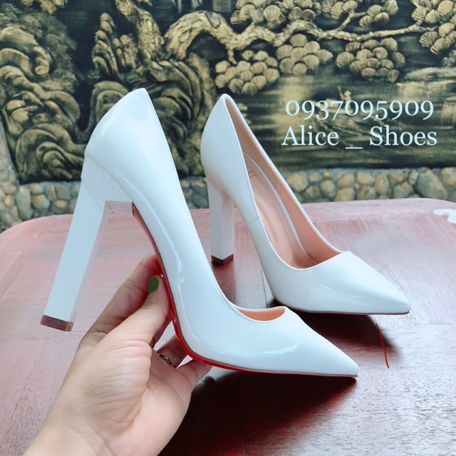 ( Hình Thật ) Giày Cao Gót Vuông 10P - VNXK Cao Cấp - Full Size 34-40