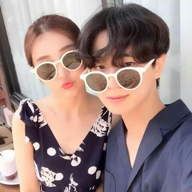 Kính mát GOBI gọng tròn Hàn Quốc màu nâu trà hot trend