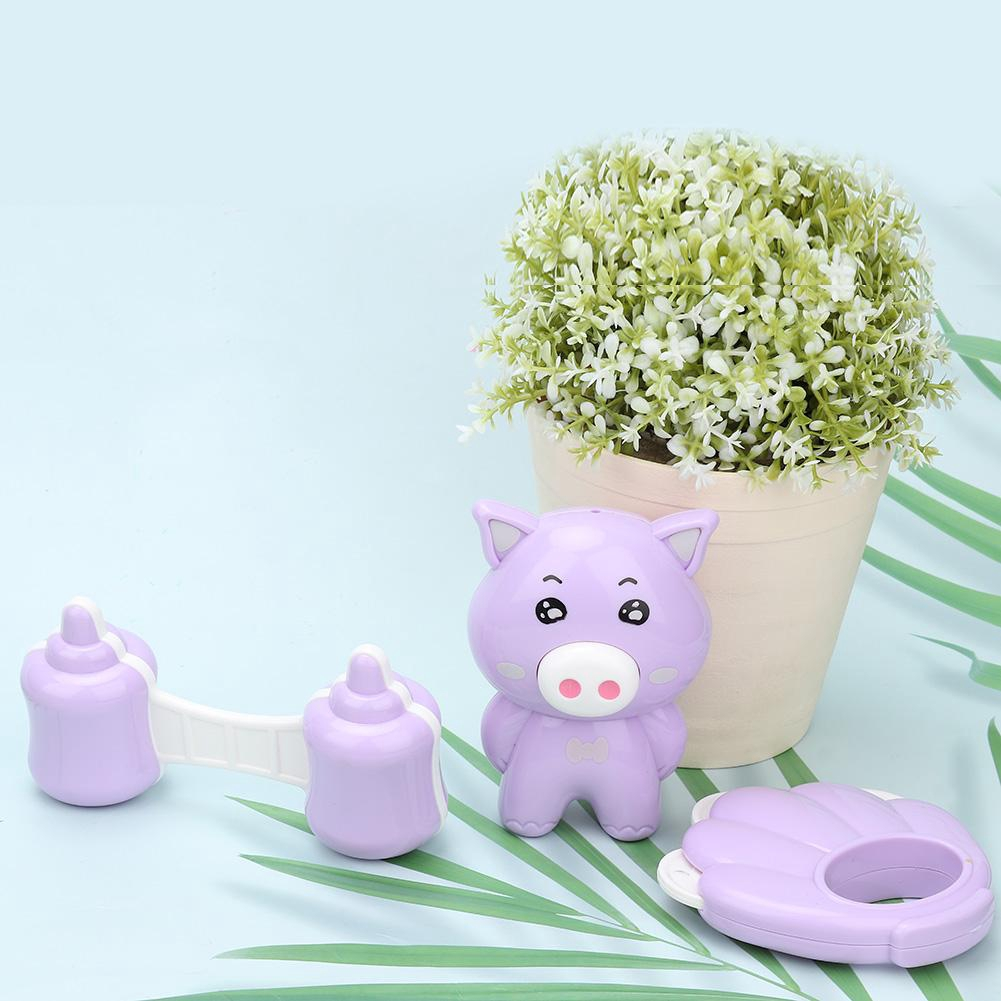 Havasshop Baby Rattles Hand Toy Smoothie Toy 3pcs / set Baby Newborn Plastic Animal Rattles Toy Musical Hand Smoothie Be