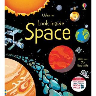 Sách Look Inside Space Usborne lật mở khám phá vũ trụ không gian cho bé từ 4 tuổi thumbnail