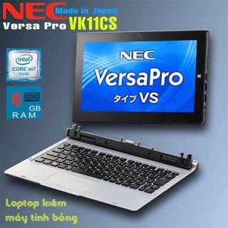 Laptop 2 trong 1 kiêm máy tính bảng Nec VersaPro VK11 Core 6Y54, 4gb Ram, 128gb SSD, 11.7inch Full HD IPS cảm ứng thumbnail