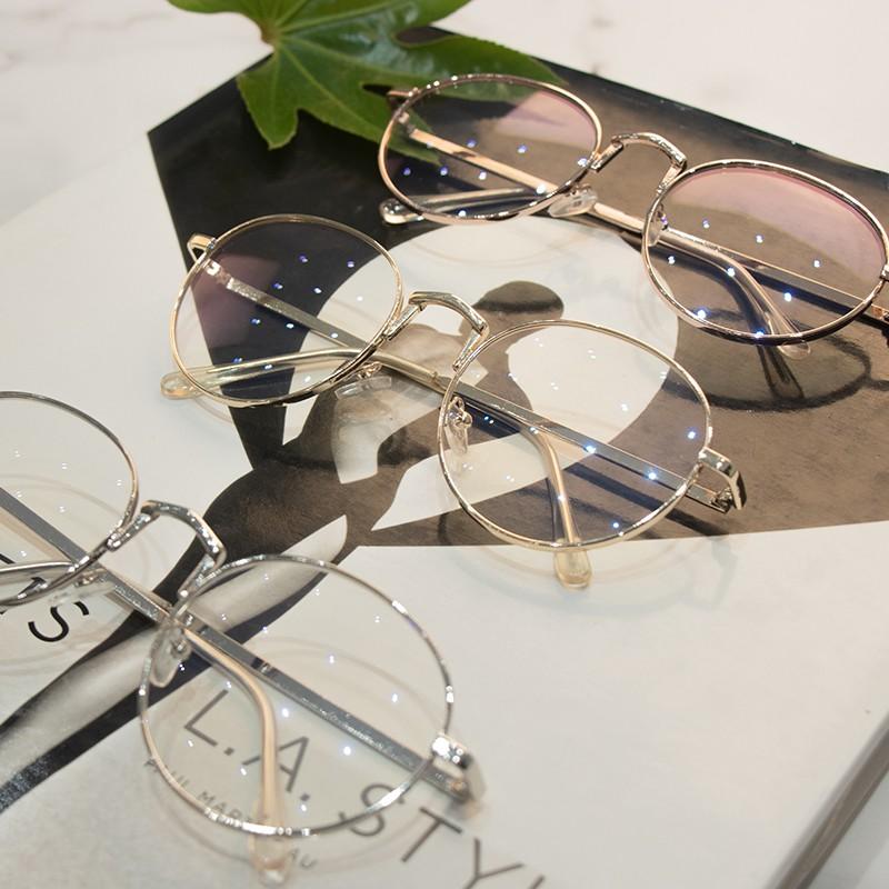 Mắt kính gọng tròn chống tia bức xạ thời trang cho nữ