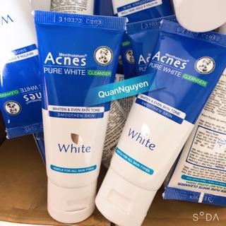 Hàng Mẫu dùng thử Sữa rửa mặt dưỡng trắng Acnes Pure White Cleanser 25g thumbnail