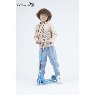 Áo thun dài tay in chữ bé trai IVY moda MS 58K0968 thumbnail