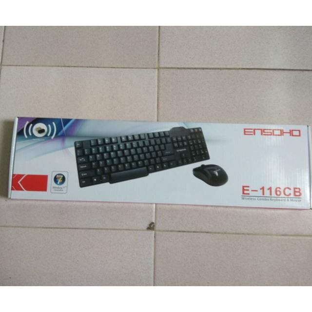 Bộ bàn phím + chuột không dây Ensoho E-116CB Giá chỉ 109.000₫