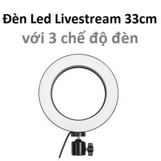 Đèn led livestream 33cm (Φ33) 3 chế độ đèn tích hợp kẹp điện thoại