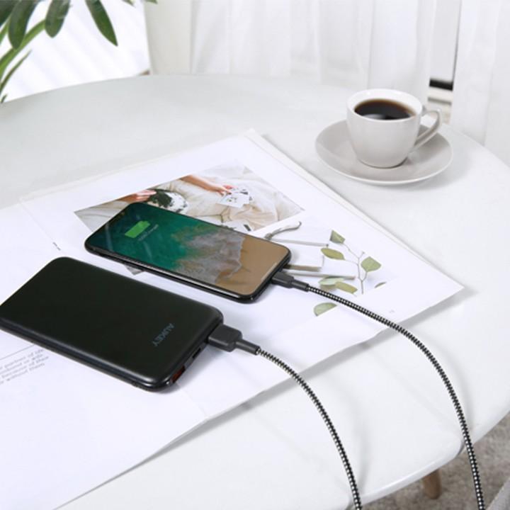 [Mã ELMALL300K giảm 5% đơn 500K] Combo Sạc iPhone AUKEY Sạc 10.000 mAh PB-N73,Cốc 12W PA-U32, Cáp Sạc Lighting MFiCB-AL1