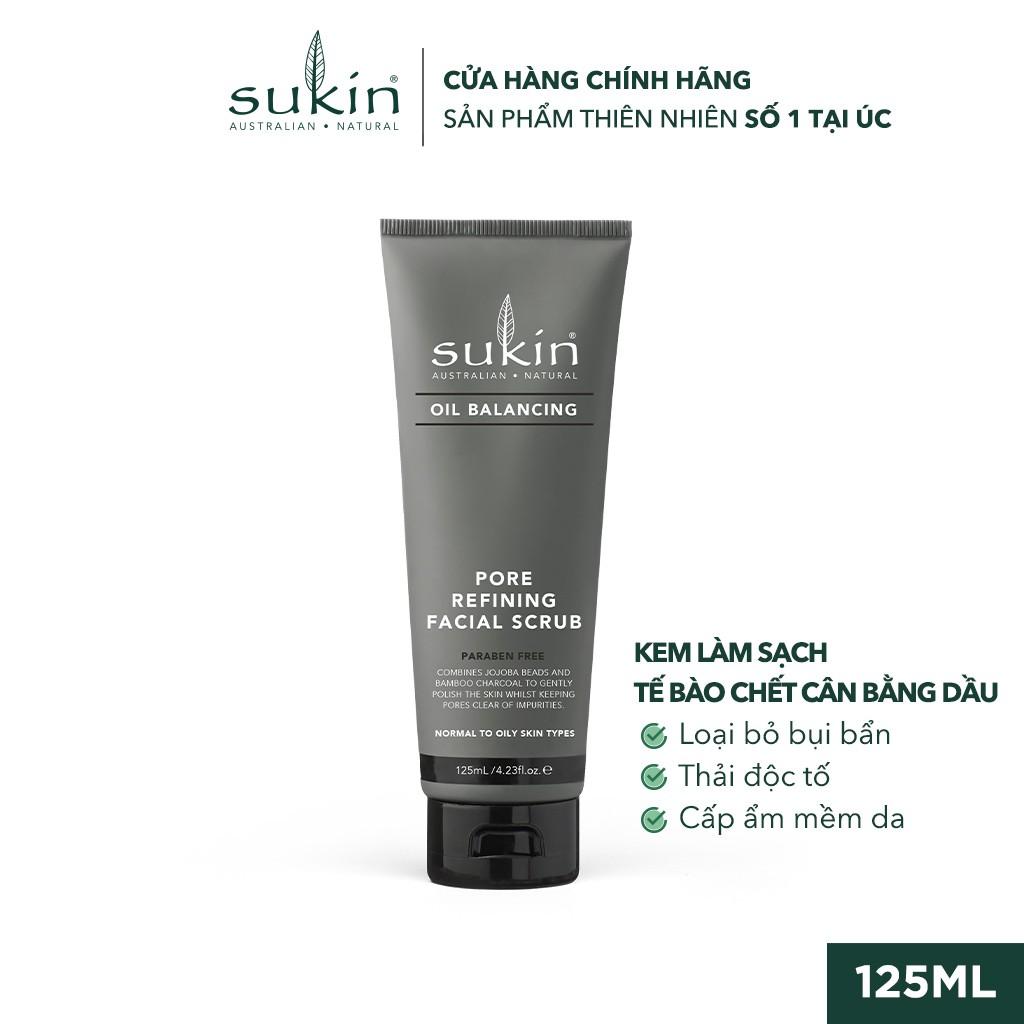 Kem Làm Sạch Tế Bào Chết Cân Bằng Dầu Sukin Oil Balancing Pore Refining Facial Scrub 125ml