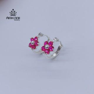 Bông Tai Bạc Trẻ Em Hình Bông Hoa - Minh Canh Jewelry