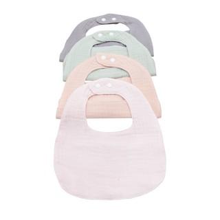 Set 2 Yếm giữ ấm cổ cho bé hình chữ U 100% cotton siêu mềm Comfybaby