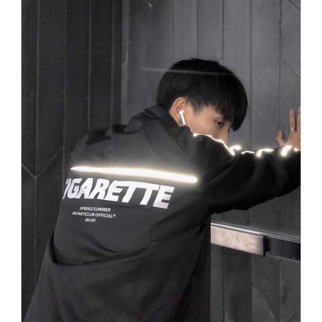 [Video] Áo Khoác/Jacket Dài Tay Nam Nữ Dù Phản Quang Cigarette Phong Cách Unisex Thời Trang Unisex Casual Streetwear