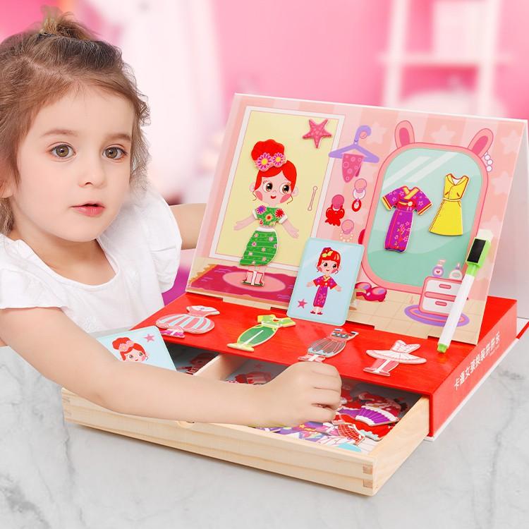 Đồ chơi trẻ em ghép hình nhà thiết kế thời trang cho bé gái – trò chơi giáo dục phát triển trí não cho bé