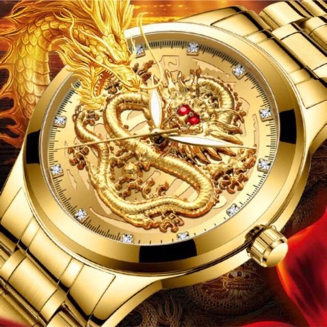 Đồng hồ nam FNGEEN mặt rồng 3D sang trọng lịch lãm