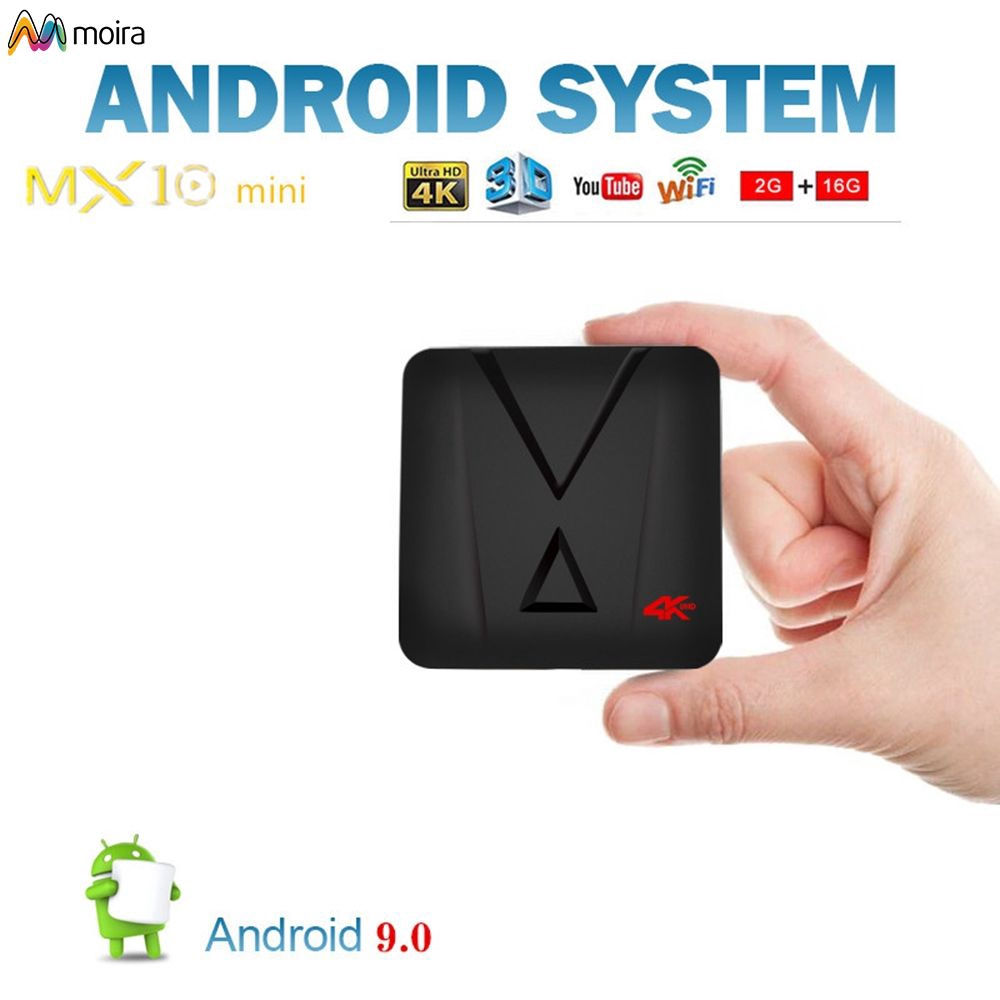 TV Box thông minh mx10 16GB hệ điều hành Android 9.0 RK3328 Quad 3D 4K WiFi Media Player