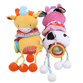 Baby Rattles Toys Cute Animall Musical Mobiles The Bed Bell Bed Pram Toy Newborn Baby Stuffed Stroller Hanging Educational Toys