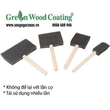 Cọ mút (Foam brush) chuyên dùng cho sơn gỗ gốc nước