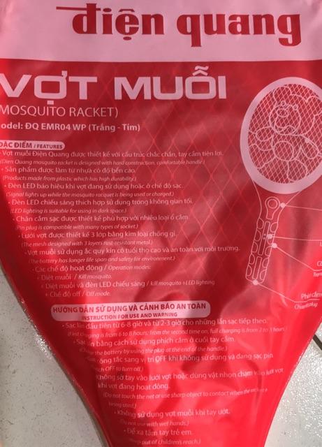 Vợt muỗi Điện Quang Tặng kèm bút thử điện