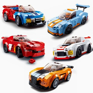 Sluban Building Blocks Educational Kids Toy Car Club Racing Cars Formula 1 Toys B0633