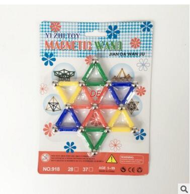 DE 50 /37 Pcs Magnetic rods children's creative manual material magnetic blocks educational toys