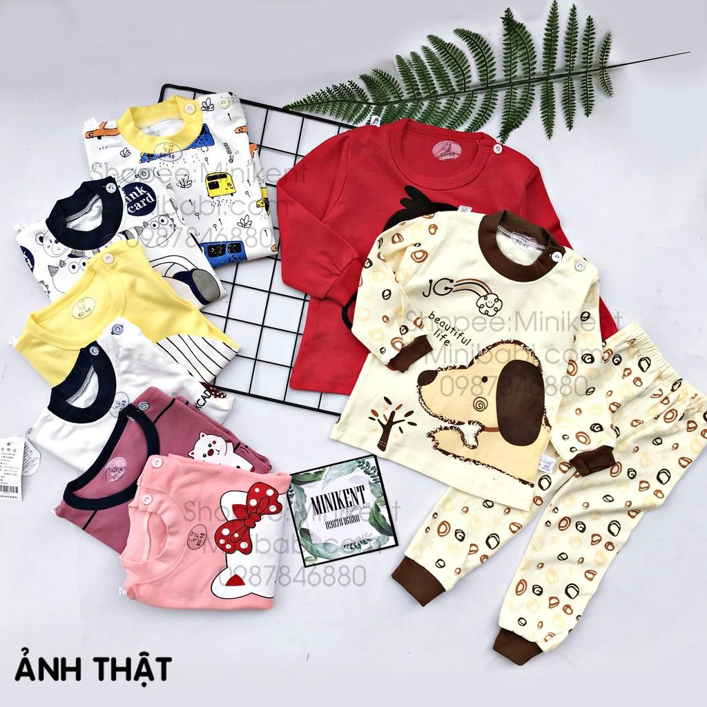 Bộ dài tay cotton thu đông cho bé 2019