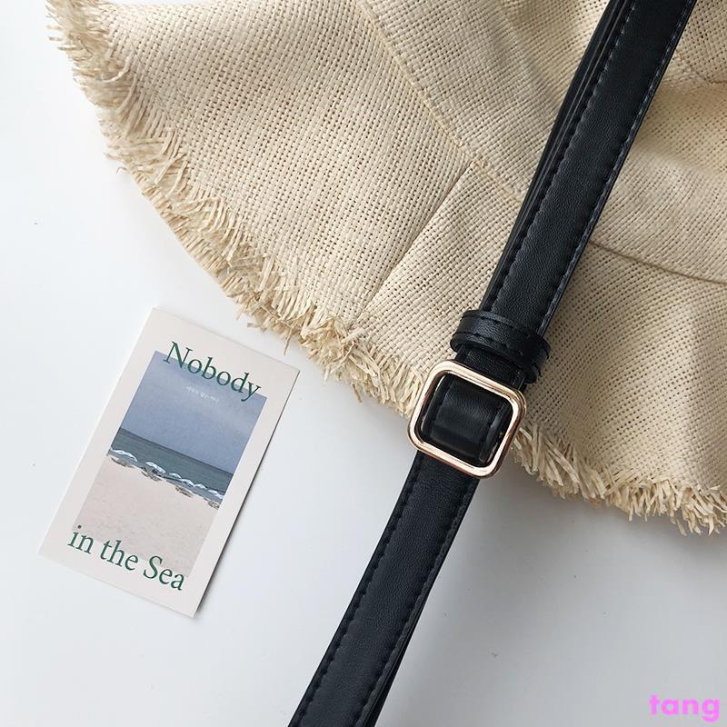 Belt female cool ins wind simple versatile decorative wide b