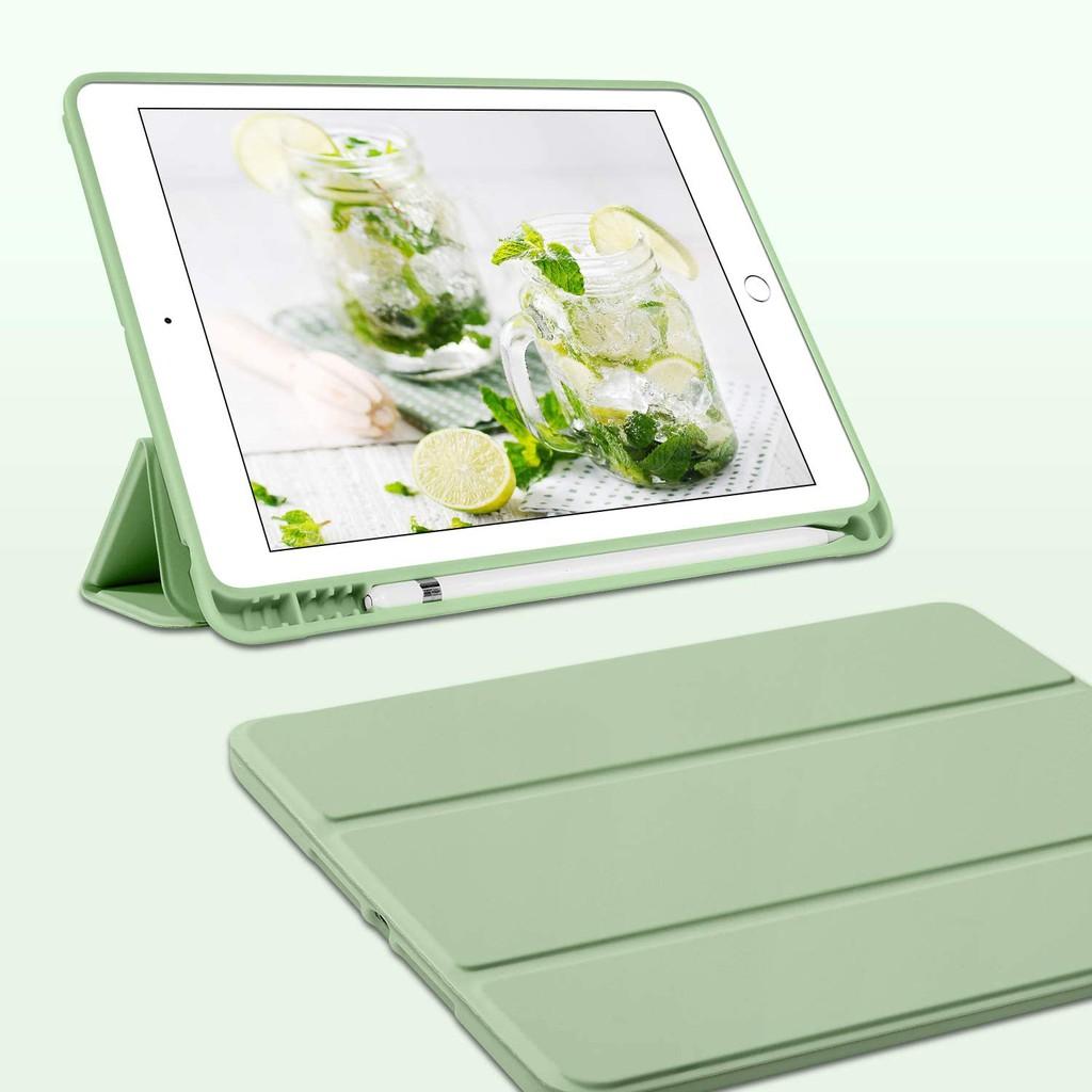 Bao da thông minh cho máy tính bảng iPad air iPad pro iPad gen8 10.2 air4 10.9 pro11 air2 air1 6th 5th 9.7 air3 10.5 mini5 mini4 có khe đựng bút