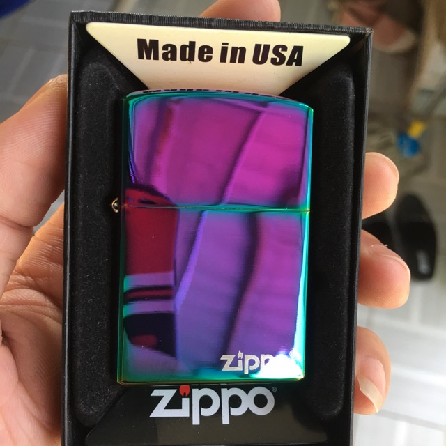 Zippo 7 màu logo,,Main USA