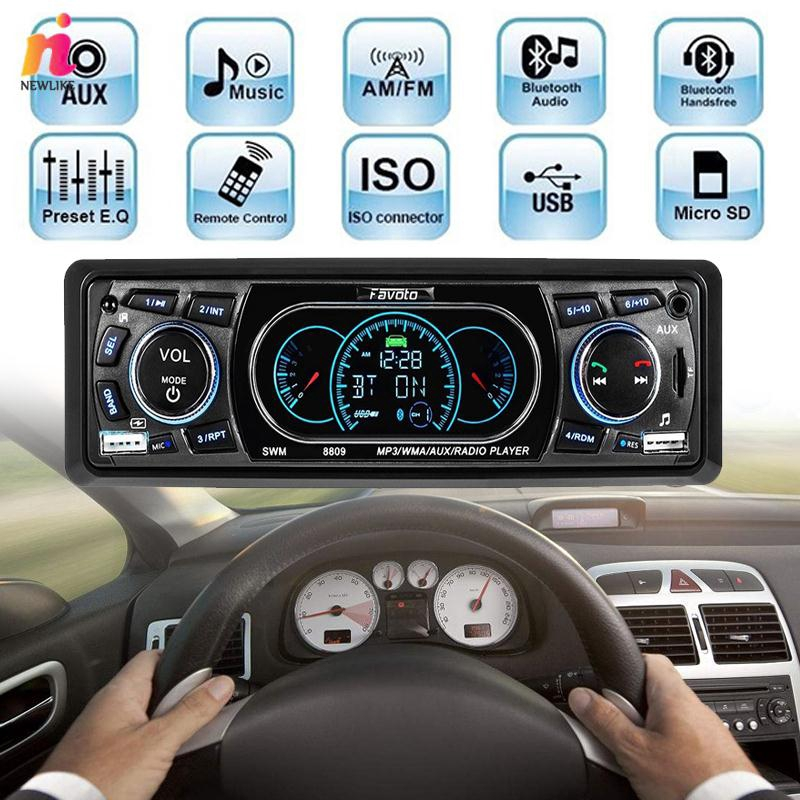 NL MP3 Player Auto Audio Wireless Bluethooth SD MMC USB Smart LCD Screen Car Kit Mp3 Players Accessorie