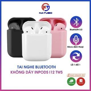 Tai nghe bluetooth không dây Inpods i12 TWS cảm ứng điều khiển cảm biến âm thanh HIFI cho Android iOS