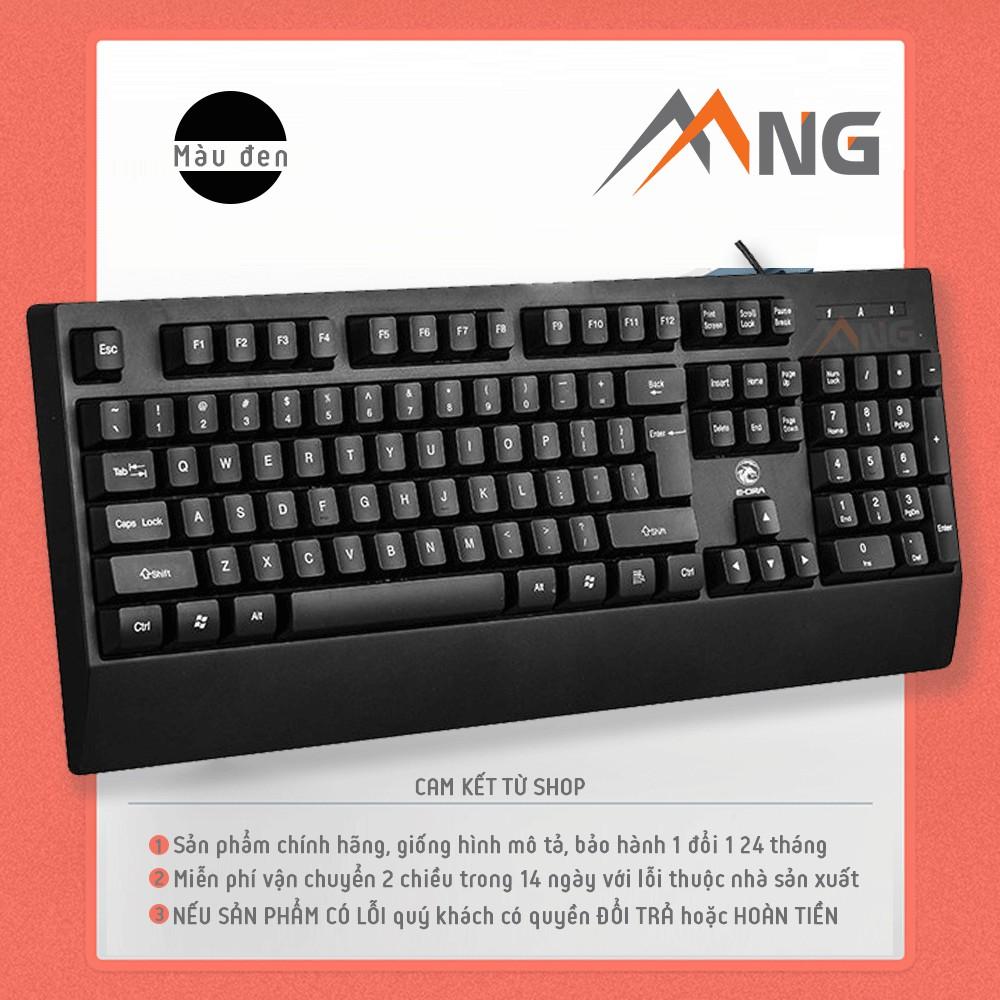 Bàn phím máy tính có dây EDra EK502 màu đen dành cho chơi game, văn phòng Switch Life 104 phím dây dài 1,6m