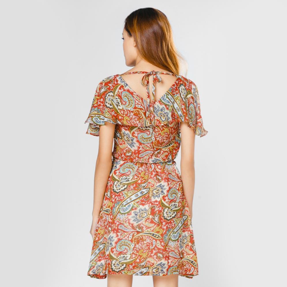 Đầm xòe thời trang cổ tim tay cánh tiên - D293 .ji