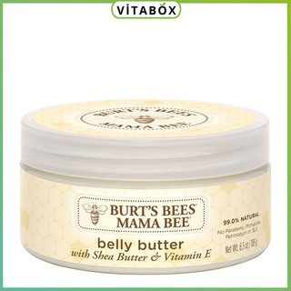 Burt s Bees - Kem Chống Rạn Da Cho Mẹ Bầu Mama Bee Belly Butter Burts Bee - 185gr thumbnail