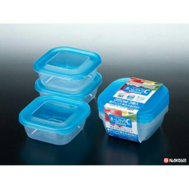 Compo 5 Set 3 hộp nhựa 380ml màu xanh