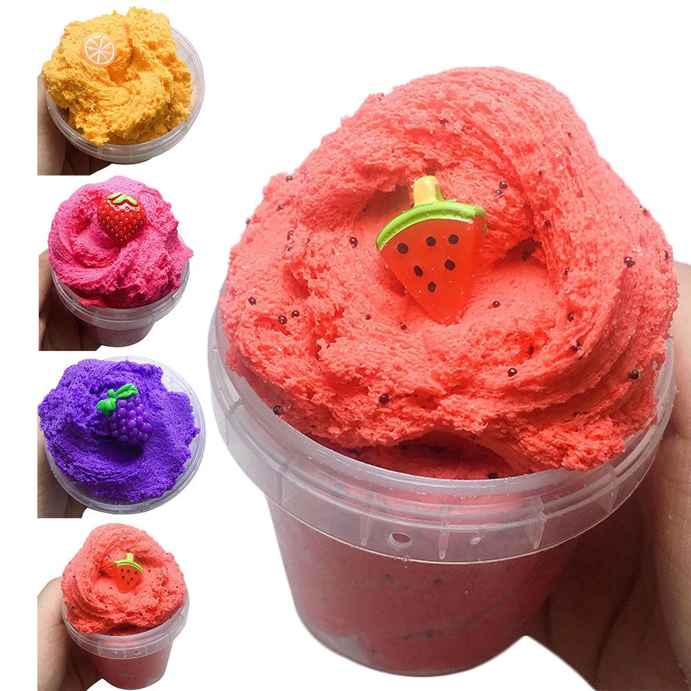 New Fluffy Twist Slime Clay Scented Cloud Pineapple Slime Charm Stress Relief Kids Toys